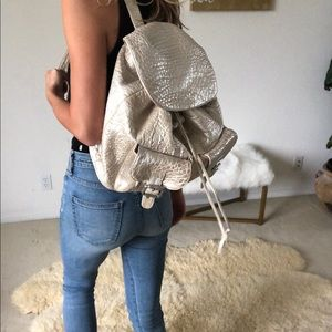 Anat Marin silver backpack